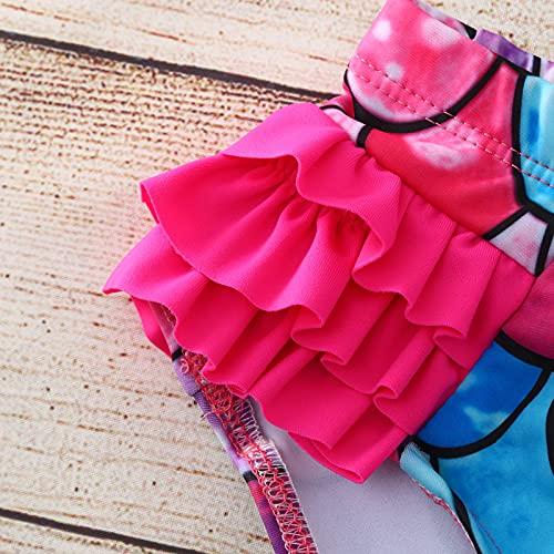 YWLINK BañAdor Infantil De Una Pieza con Estampado De Escamas De Pez con Volantes,Conjuntos NiñA,BañAdor con Estampado De Peces De Moda De Verano Buena Piscina, Playa Fiesta Conjunto De Bikini