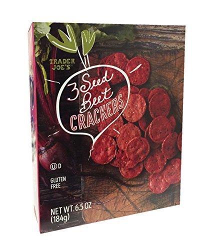 Trader Joes Gluten Free 3 Seed Beet Crackers 6.5oz