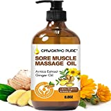 Sore Muscle Arnica Massage Oil for Body, 250ml Natural Massage Oil with Arnica Oil and Ginger Oil-Warming and Relaxing Soothes Tired Sore Muscles