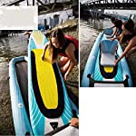 JNWEIYU Double Thickened Kayak, Two-in-one Inflatable Boat, High-Pressure Inflatable Seat, Non-Slip Deck, Elastic… 13 Sturdy two man kayak, ideal for lakes, fishing and sea shores; broad shape combines stability and comfort when out on the water Two person canoe comes with Boston valves for easy inflation and fast deflation; manometer for pressure control included The compact Canadian canoe comes with a durable polyester hull, two PVC side chambers and an ultra-durable tarpaulin shell for high stability and safety on the water