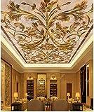 Fototapete 3D Wandbild Europäischen Marmor Decke Moderne Für Wohnzimmer Decken Gemälde Bild Dekoration Fresko Decor 250×175cm