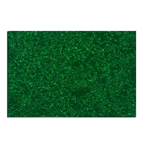 Musiclily 435x290mm Blank Electric Guitar Bass Pickguard Material Scratch Plate Sheet,4Ply Green Pearl