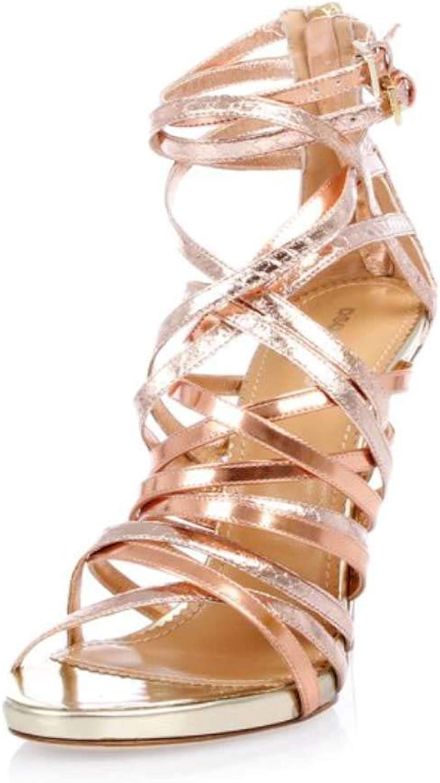 Dsquared2 Womens women Costoso pink Zeppe Laminate in Pelle Leather Open Toe
