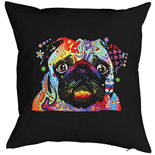 Little Pug Pillow, oreiller, almohada, Cuscino Pop Art Style