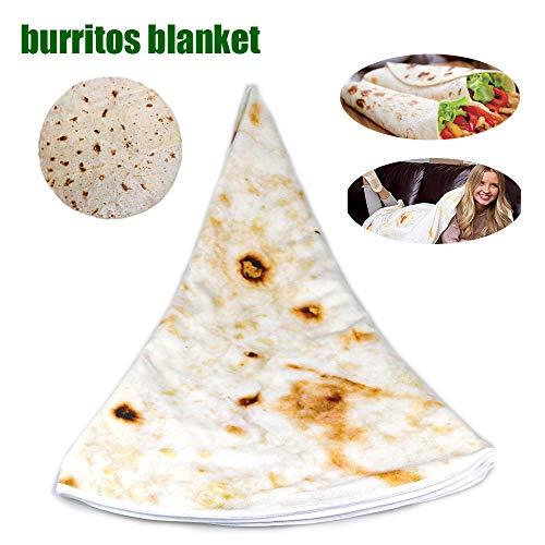 Burrito Tortilla Giant Round Blanket