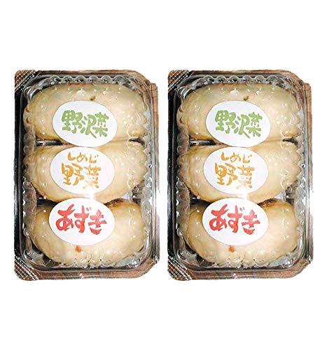【クール配送】信州小川の庄縄文おやき おやきパック3個入(野沢菜、しめじ、あずき)×2パック