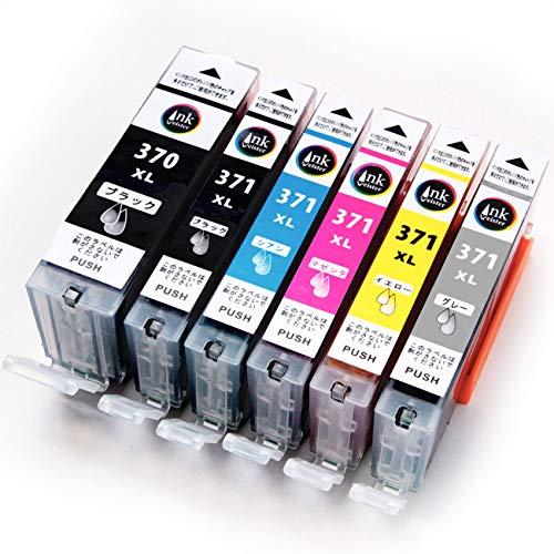 Canon キャノン BCI-371+370 /6MP インクカートリッジ【 マルチパック 大容量 】 BCI-371 5色(BK/C/M/Y/GY) + BCI-370 BCI-370PGBK 残量表示対応 最新ICチップ BCI371 BCI370 互換 インク インクタンク <対応機種> PIXUS TS9030 TS8030 MG7730F MG7730 MG6930 【InkMeister】