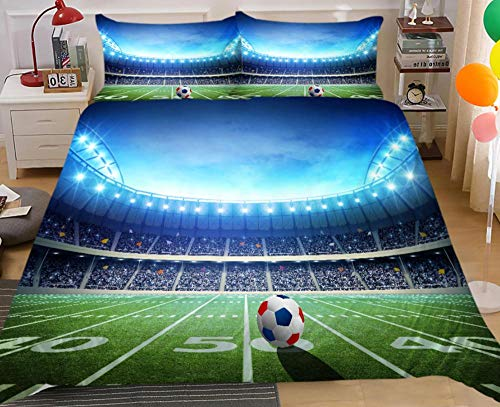 KIrSv Fútbol Baloncesto Ropa de Cama con patrón Impreso en 3D, Familiares y Amigos,cómoda Funda nórdica y Funda de almohada-220x260cm(2pcs) 5