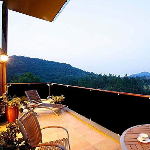 Aiyaoo Paravento per Balconi 80x600cm Windschutz Sonnenschutz Balkonbespannung atmungsaktiv pflegeleichtes für Gartenzaun Balkonzaun Schwarz