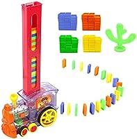 Juguetes para Trenes de niños, Tren Educativo para niños Juguetes educativos para Trenes de dominó Conjunto de Juegos...