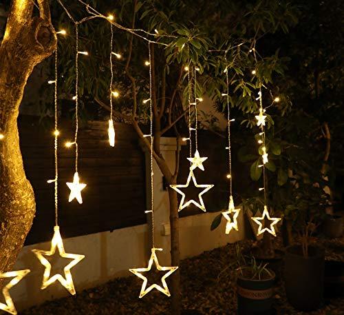 Allamp Luces de Hadas Luces de Cadena LED Guirnalda de Navidad con Control Remoto SERVIZA DE LUZ SERVICIDAD DE Luna DE Luna DE Luna DE Luna A Prueba de Agua Decoración del jardín