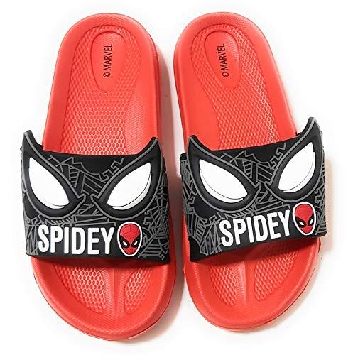 Flip-Flop Spiderman Marvel 3D Sandales de plage pour enfant - Rouge - rouge, 27/28 EU EU