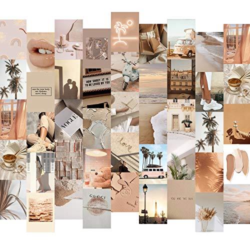 myDreamwork - Premium Wandcollage, Bilder Set 50er, Ästhetik, Poster Mädchen, Collage Kit   Stilvolles Bilderset für das Wohnzimmer   50 Stück 10,5x14,6cm   VSCO Girl   Handsortiert, Made in Germany
