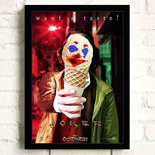 oioiu Película y televisión Graciosa Superestrella Joaquin Phoenix Phoenix Heath Ledger película Graffiti Rock Comic impresión Lienzo Bar Sala de Estar Cartel Regalo conmemorativo