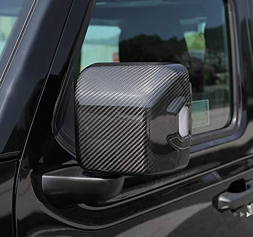 Cubierta De Espejo Retrovisor De Fibra De Carbono De 2 Piezas, Adecuada Para 2018-2019 Jeep Wrangler Retroview Cubierta De Espejo, Cubierta De Espejo De Puerta Izquierda Y Izquierda Externa