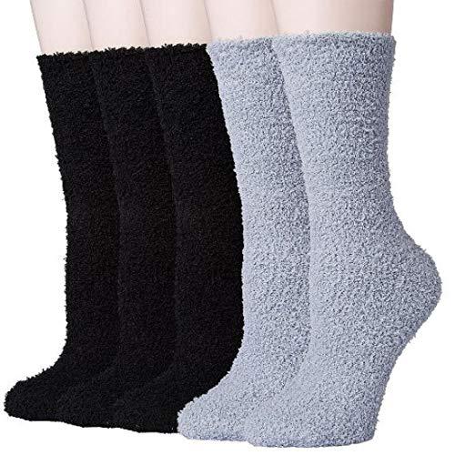 Justay 5 Pares de Calcetines Termicos Grueso Antideslizante de Lana para Hombres y Mujeres