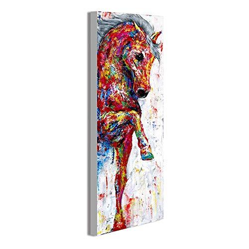 HNTHBZ Leinwand-Malerei Wand-Kunst-Ölgemälde Pferd Bild Poster Tiermalerei Wohnkultur No Frame JYSLR019 (Size (Inch) : 28x84)