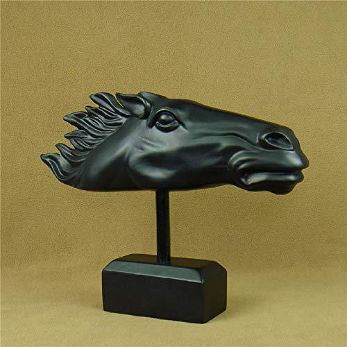 GZSBM Escultura Figuritas Escultura De Cabeza De Caballo Estatua Accesorios para Manualidades Decoración para El Hogar Y La Oficina