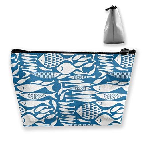 Shoal of Fish Trapèze Sac de rangement pour cosmétiques de voyage