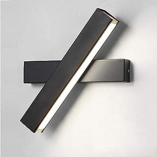 12W Applique Murale LED Lampe Noire Designe Créatif Luminaire Intérieur Rotation de presque 360 degrés Blanc Froid Lampe d...