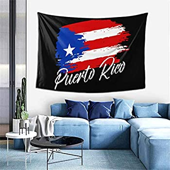 Puerto Rican Flag - Grunge Design Tapestry Hippie Art Tapestry For Bedroom Living Room Dorm Party Decor 60x40Inch