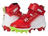Under Armour Men's Harper 6 Mid RM Jr. Baseball Shoe, Red (600)/Hyper Green, 10