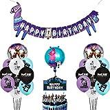BESLIME Artículos de Fiestas para Fanáticos de los Videojuegos Decoraciones para Cumpleaños de Tema de Videojuegos con Globos Cake Toppers para Decoraciones