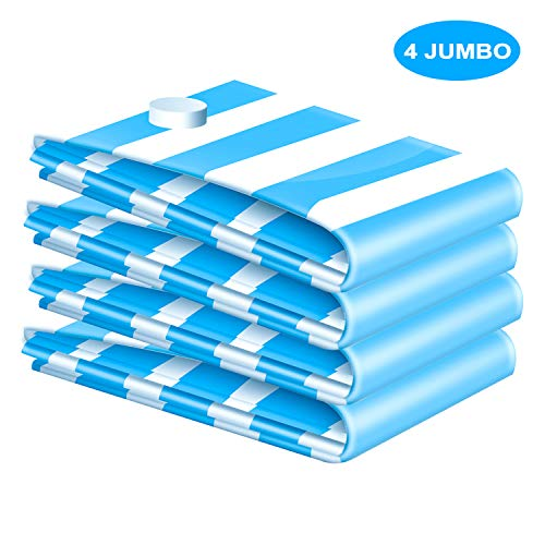 VMSTR Jumbo Vacuum Storage Bags for Clothes, Blankets, Pillows, Space Saver Size 39x31 Extra Strong
