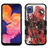 for Samsung Galaxy A10e Case, Galaxy A10e Hard+Rubber Dual Layer Hybrid Heavy-Duty Rugged Impact Cover Case - Deadpool #SD