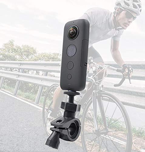 Honbobo Fahrrad Montieren Stand Halter für Insta360 ONE R/Insta360 ONE X/EVO,360 Grad Drehung Adapter Einstellbarer Ständer Fahrrad Halterung