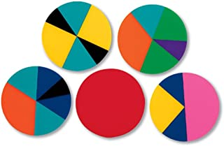 hand2mind Plastic Rainbow Fraction Circles, Montessori Math Materials for Kids to Learn Fraction Equivalence Math Manipula...