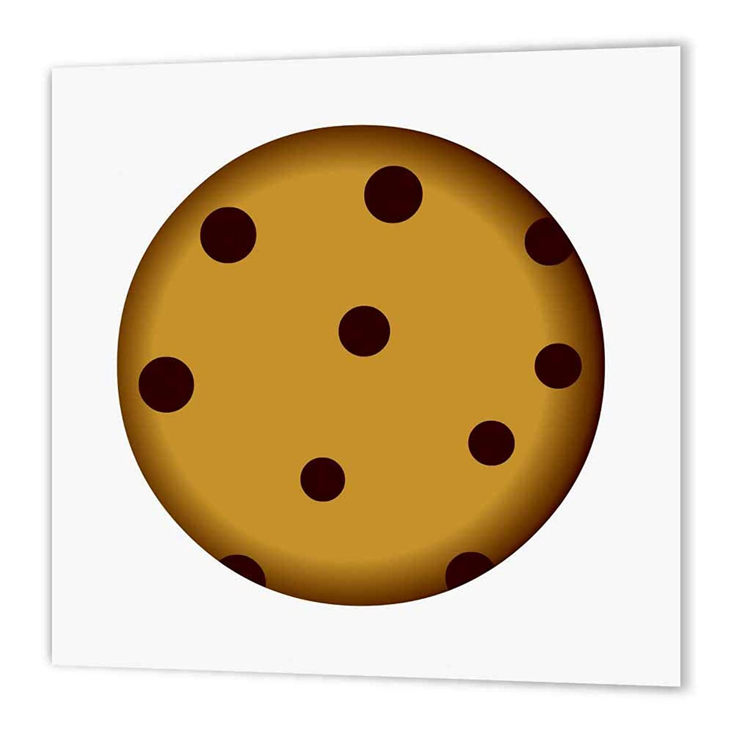 3dRose ht_43214_1 Large Chocolate Chip Cookie Cartoon Iron on Heat Transfer, 8 by 8