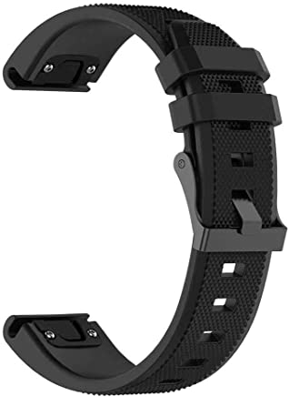 SZSTARS Compatible for Garmin Fenix 5 Band Easy Fit 22mm Width Soft Silicone Watch Strap Replacement for Garmin Fenix 5/Fenix 5 Plus/Forerunner 935/quatix 5/quatix5 Sapphire/Approach S60