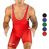 Men's wrestling singlets, Elite Sports Standard Singlet for Men Wrestling Uniform (Red, 2XL)