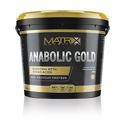 Matrix Nutrition Anabolic Gold 86% Protein Powder | Whey Protein Concentrate Complex | Low Sugar Lean Muscle Building Training Shake (Chocolate, 5kg)