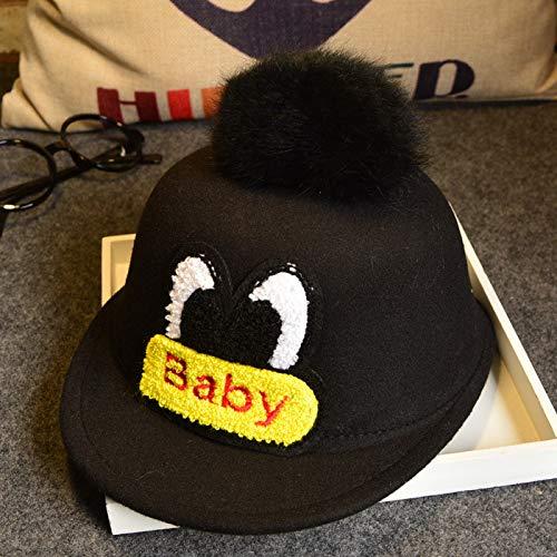 ChildHat 2018 Hut für Kinder,Babymütze, Wollmütze für Kinder, Babymütze, Babyaugen, Reitergeschenk, rosarot, geeignet für Kopfumfang 49~52 cm