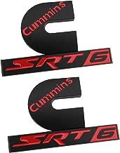 2Pc Dodge Ram Cummins SRT6 Badge Emblem for Dodge Ram 2500 3500 Turbo Diesel SRT (Red)