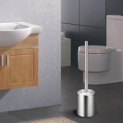 OYSHOPP Escobillero de WC Elegante escobilla de baño de Acero Inoxidable Escobillas...