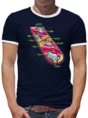TShirt-People Hoverboard Skateboard a contrasto Blu scuro XL
