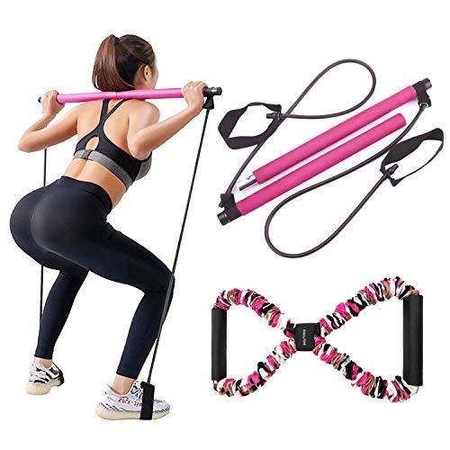 LADER Pilates Bar Kit with Resis...