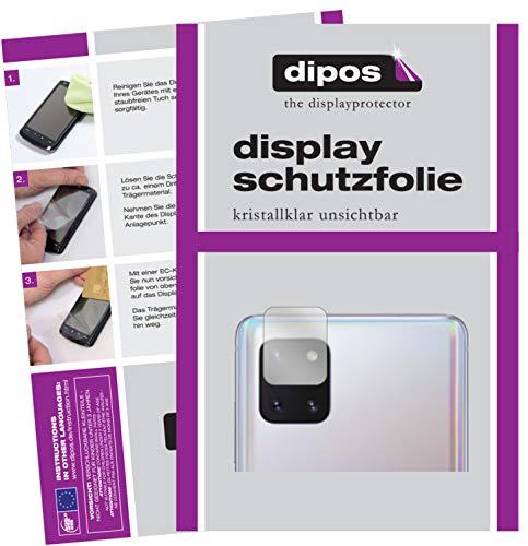dipos I 2X Protector de Pantalla Compatible con Samsung Galaxy Note 10 Lite Lente de la cámara pelicula Protectora Claro