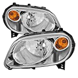 hhr headlight assembly - For Chevy HHR Amber Chrome Bezel OE Replacement Headlights Driver/Passenger Head Lamps Pair