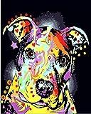 ZYCD Pintura Digital para Adultos Perro indígena Animal DIY Pintura acrílica para niños y Adultos Principiante con Pinceles Pinturas sobre Lienzo