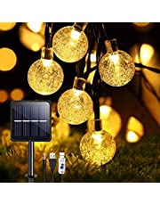 Lichtsnoer op Zonne-energie voor Buiten, solar tuinverlichting, 50 leds, 8 meter, 8 modi, IP65 waterdicht, buiten/binnenverlichting, verlichting voor tuin, bomen, terras, Kerstmis, bruiloften, feesten
