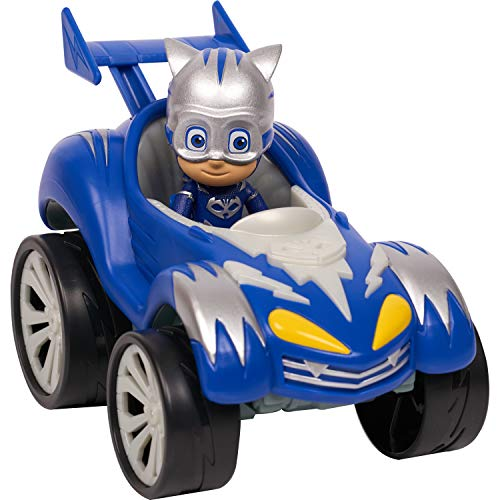 PJ Masks Power Racers Vehicles, Articulated Catboy Figure and Cat-Car, Blue