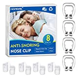 Anti snoring Device - 4 Pack Soft Silicone Magnetic Anti Snore Nose Clip with 4 Pack Nasal Dilators - Effective-Easy Stop Snore Solution Help Ease Breathing Men and Women (8 Pack)