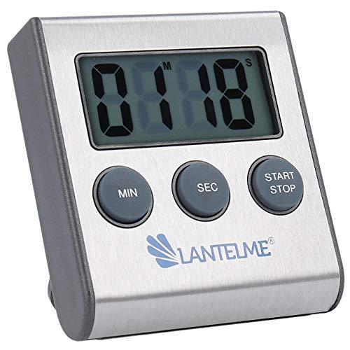 Lantelme Küchentimer digital magnetisch Edelstahl Eieruhr mit Alarm Küchentimer Kurzzeitmesser Zeitmesser 4178