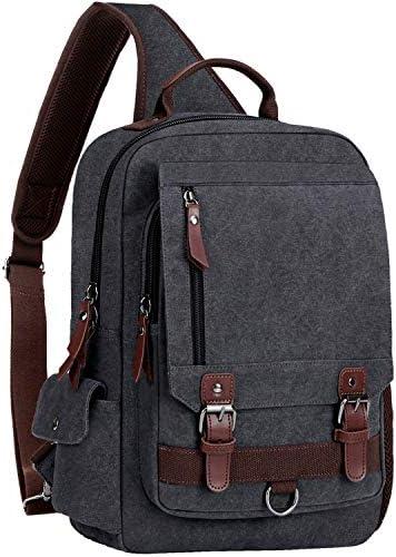 WOWBOX Sling Bag for Men Sling Backpack Laptop Messenger Bag Fit 15 6 product image