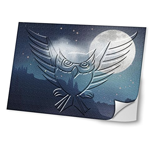 """Virano Devolique 10014, Eule, Skin-Aufkleber Folie Sticker Laptop Vinyl Designfolie Decal mit Ledernachbildung Laminat und Farbig Design für Laptop 19\"""""""