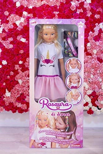 Falca- MUÑECA Rosaura 105 CM ¡LE Crece EL Pelo (85510), Multicolor, T.Única